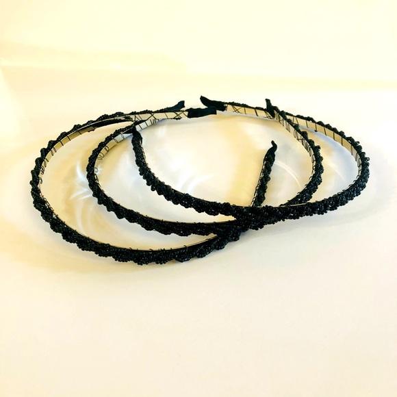 Black Beaded Headbands